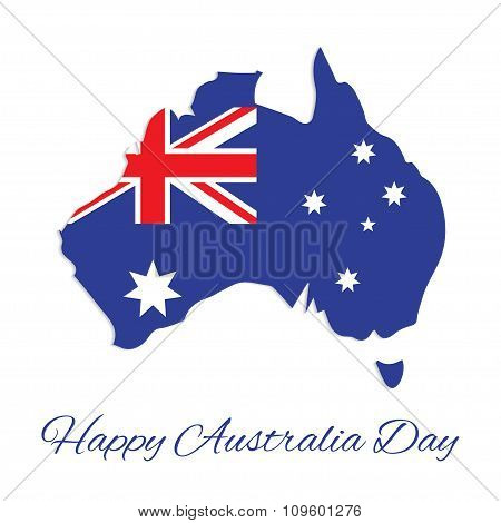 Australia map for Australia Day