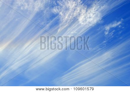 Streaky cloud formation in Portugal
