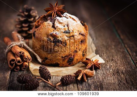 Small  Fruitcake For Christmas Dinne