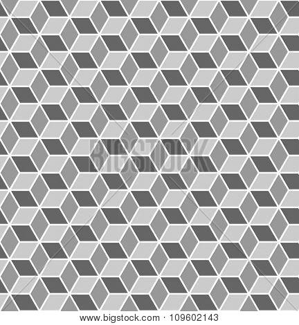 Seamless geometric texture. Optical 3D effect. Vector art.