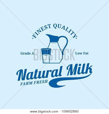 Milk Logo Template And Design Elements