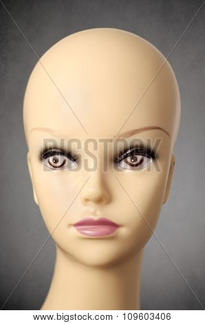 Mannequin Head On Dark Grey Background