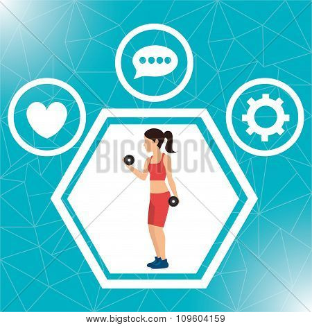 Fitness lifestyle and gym routine
