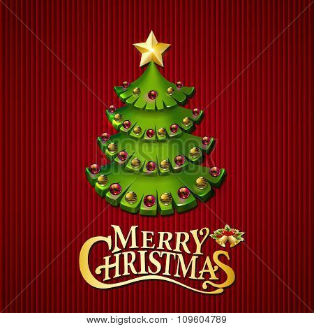 Christmas trees illustration background with a wish
