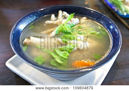 Chicken Feet In A Bowl With Spicy Soup,thai Food