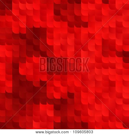 Abstract Red Vector Background with Random Gradient Tiles