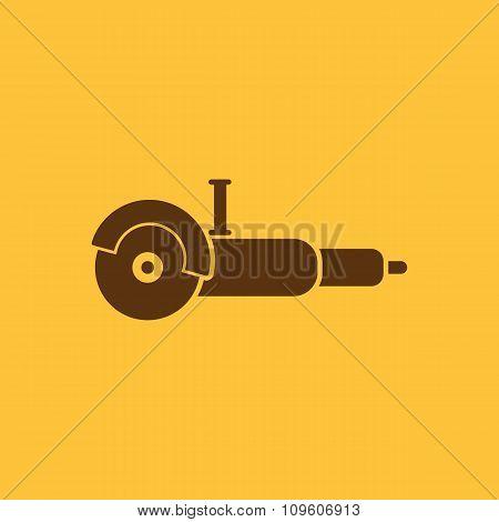 The grinder icon. Grinder symbol. Flat