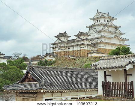 Himeji Castle located in Himeji, Hyogo Prefecture, Japan.