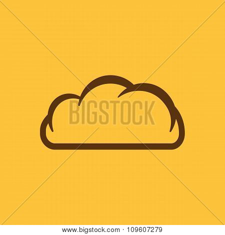 The cloud icon. Cloud symbol. Flat