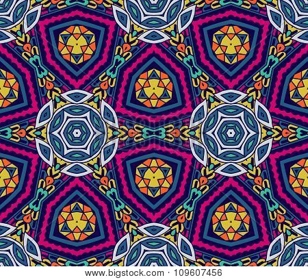 Abstract geometric mosaic seamless pattern