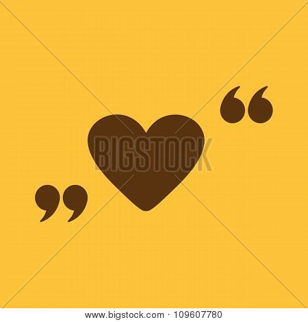 The love icon. Heart symbol. Flat