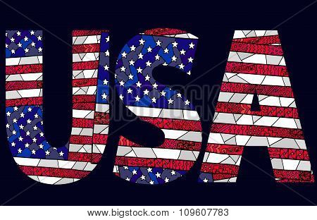 United States Flag Zentangle Usa Background
