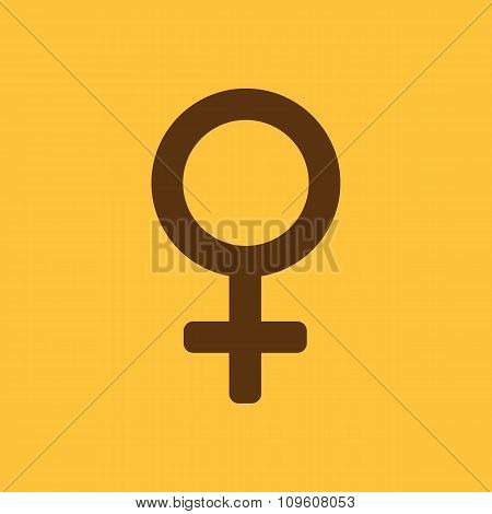 The women icon. Female symbol. Flat