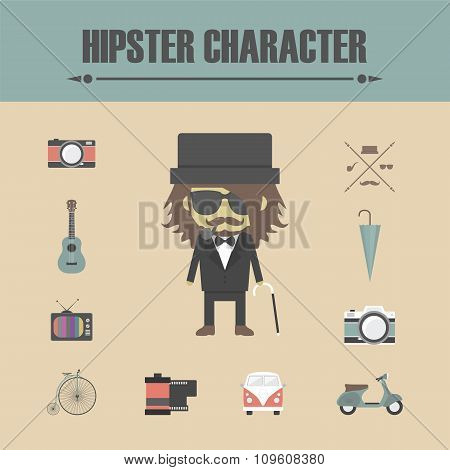 Hipster Character