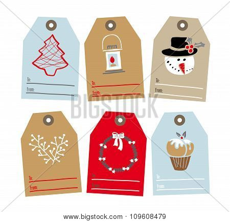 Set Of Tags For Gifts
