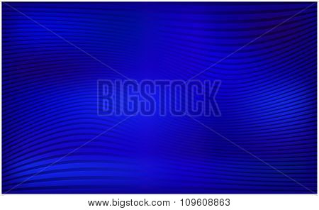 Blue Horizontal Wavy Stripe Vector Wallpaper. Abstract Background Illustration.