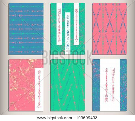 Arrows Set Hipster Geometric Cards 8