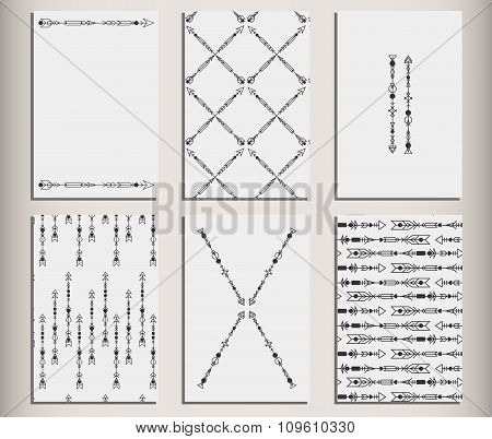 Arrows Set Hipster Geometric Cards 10
