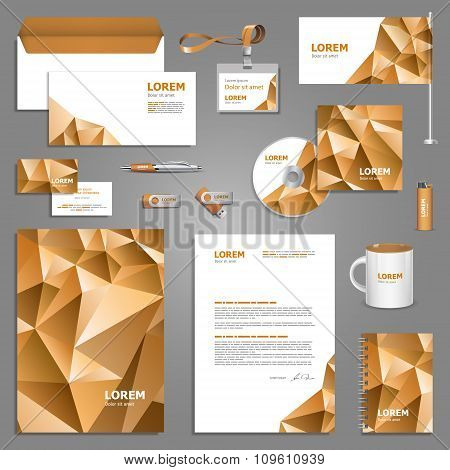 Template Design With Paper Origami Elements