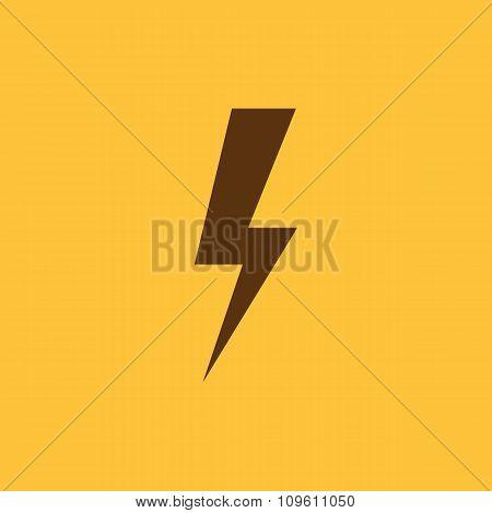 The lightning icon. Power symbol. Flat