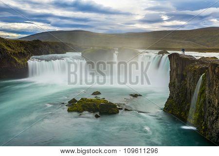 Beautiful Godafoss Waterfall In Iceland