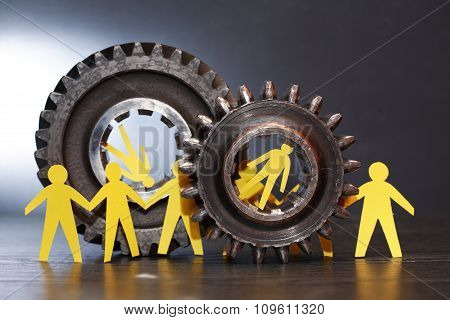 People Between Gears