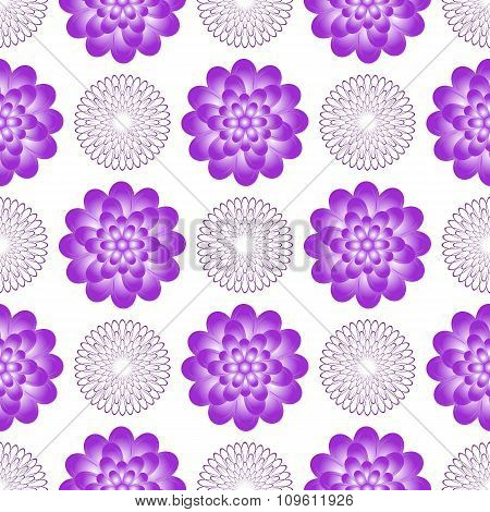 Seamless Gentle Pattern With Vintage Flowers