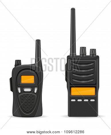 Walkie-talkie Communication Radio Vector Illustration