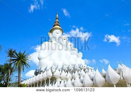 White Buddha Statue At Phasornkaew Temple, Khao Kho Phetchabun, Thailand.