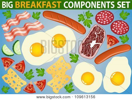 Breakfast Components Big Set Isolated
