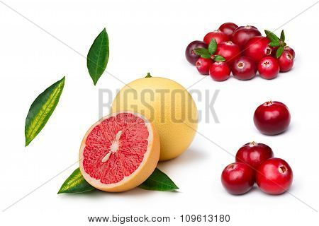 Pink Grapefruit With Cranberry