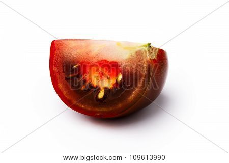 Brown Tomato Isolated Slice