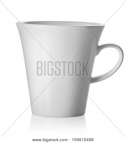 Teacup isolated on white