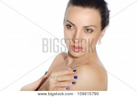 Portrait Of A Girl With Well-groomed Skin