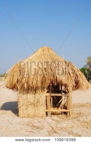 Hut from a dry grass ashore