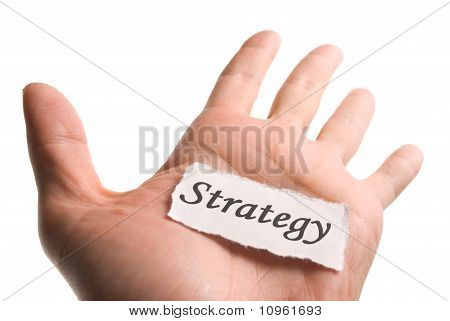 Strategy Word In Hand