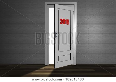 An open door