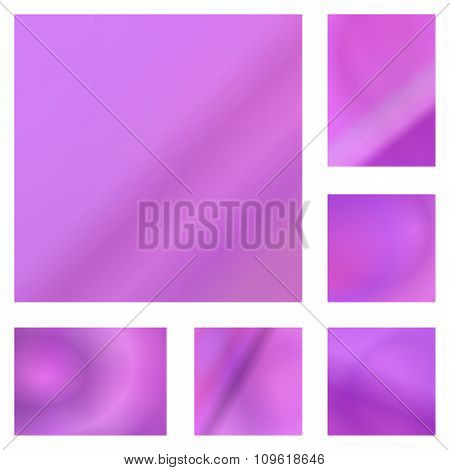 Pink abstract background design set