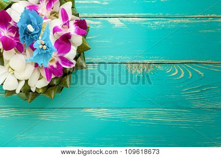 Flower Background Of Thai Krathong