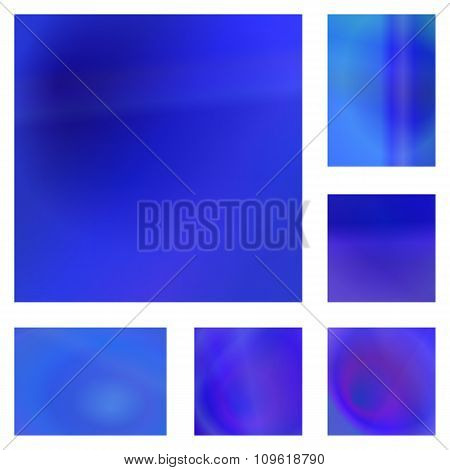 Blue abstract background design set