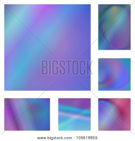 Blue and purple abstract background set