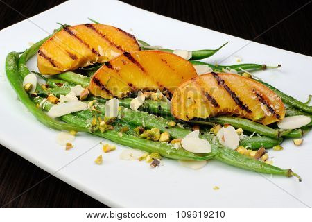 Salad Of Green Beans With Peaches