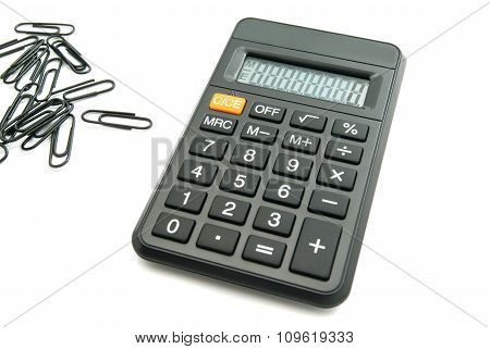 Office Calculator And Clips