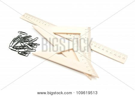 Ruler And Black Clips