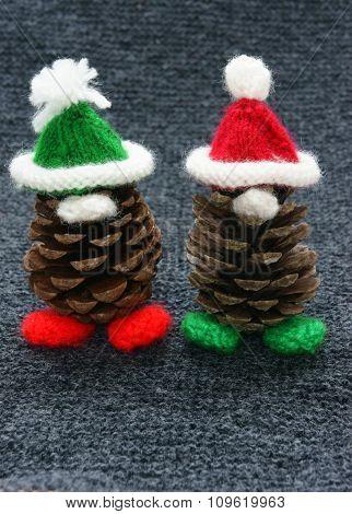 Christmas Pine Gnome, Xmas Pinecone
