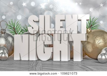 Silent Night 3D Text