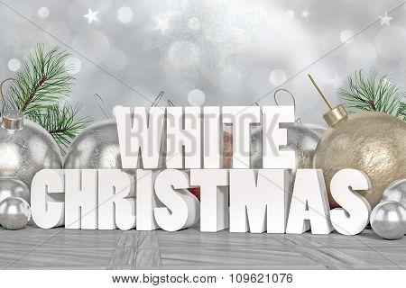 White Christmas 3D Text