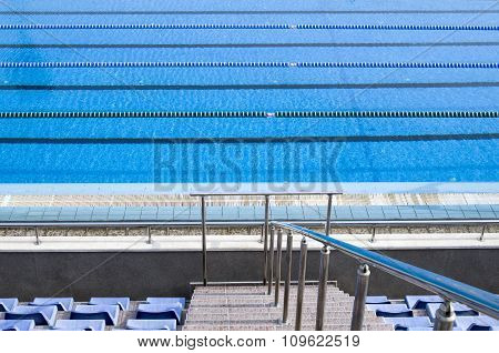 Outdoor Blank Swimming Pool  With Lane Ropes
