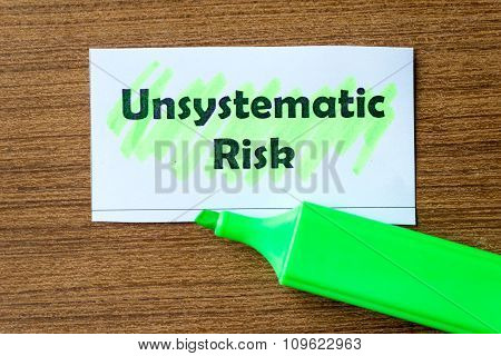 Unsystematic Risk Word Hightlighted