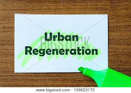 Urban Regeneration Word Hightlighted